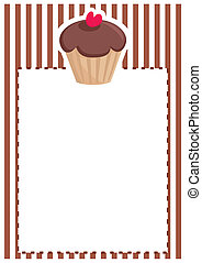 Vector chocolate card or invitation