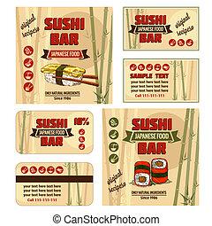corporate identity for sushi bar - Vintage Sushi Bar...