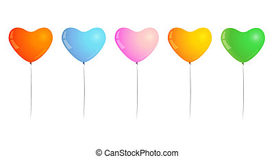 ballons - different color of inflated balloons, shape of...