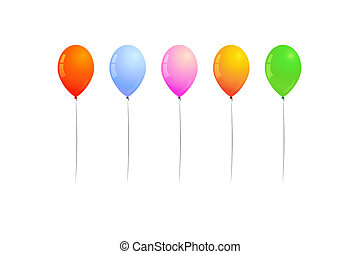 ballons - different color of inflated balloons, balloons for...