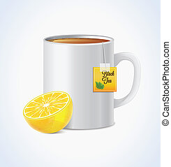 Mug Of Tea With Lemon