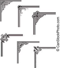 Corners - black decorative vector frame corners