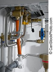 Heating Pipes - Pipes of a heating system