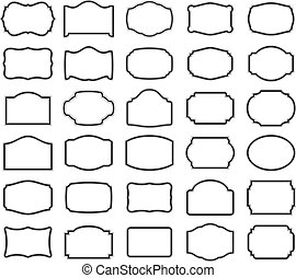 Thirty blank labels - Thirty black vector labels (you can...