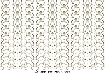 Seamless Brown Waves Pattern