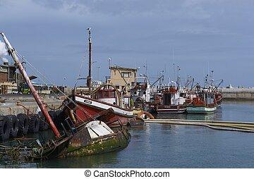 Fishing Boats at Lamberts Bay - Fishing boats tied up...