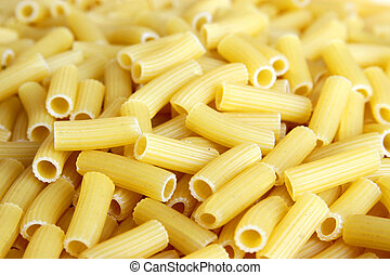 Italian pasta - meal for vegetarians on a white background
