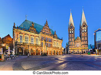 City Hall and the Cathedral, Bremen - City Hall and the...