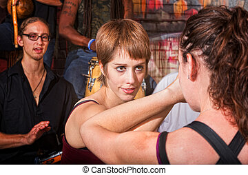 Confident Sparring Partner - Confident woman sparring with...