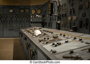 Nuclear reactor in a science institute indoors