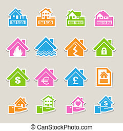 House insurance icons Set Illustration EPS10