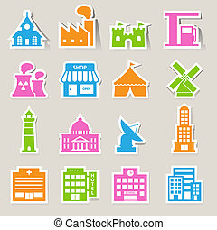 buildings icon setIllustration EPS10