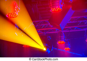 Concert lighting - Moving and static illuminated...