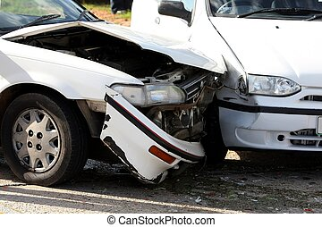 Car Crash - Two cars involved in a collision or crash