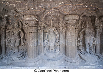 Rock Carvings - Religious figures carved into solid rock...