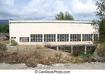 Old powerstation - Building of old hydro power station in...