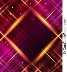 Abstract plaid background with light effects.
