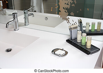 wash-stand - contemporary interior in bathroom