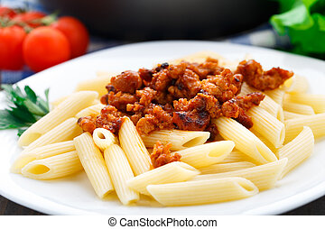 Pasta with bolognese sauce - Delicious pasta with bolognese...