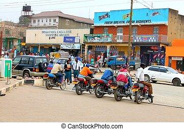 ugandés, taxi, Conductores