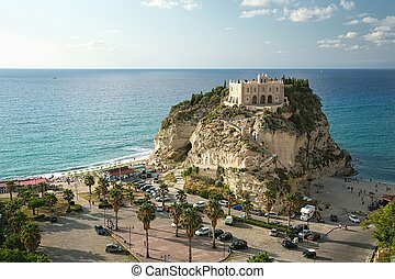 The south Italy, area Calabria, church of Tropea city -...
