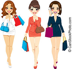 Beautiful Business Women Shopping