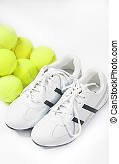 Tennis Shoes and Lots of Balls