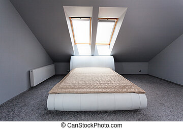 Urban apartment - attic bedroom - Urban apartment - white...