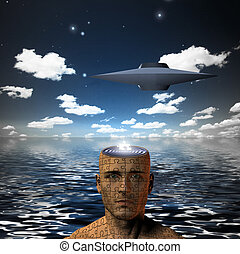 UFO - Saucer craft and puzzle mind