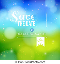 Save the date for personal holiday.