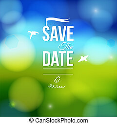Save the date for personal holiday. Wedding invitation on a...