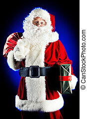 santa portrait - Portrait of a traditional Santa Claus with...