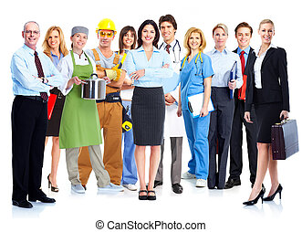 Business people group. - Business people group isolated on...