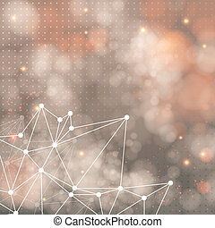 Geometric background with triangle elements and place for Your text. Vector illustration.