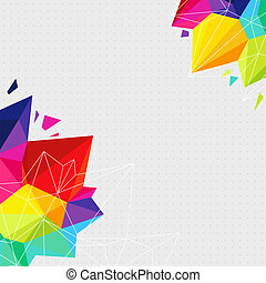 Geometric background with bright triangle elements and place for Your text. Vector illustration.