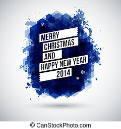 Merry Christmas and Happy New Year typographic headline. Use...