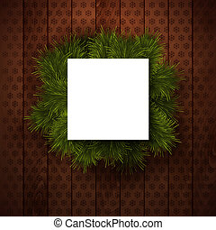 Merry Christmas paper note with place for Your text.