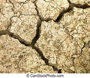 cracked earth soil.
