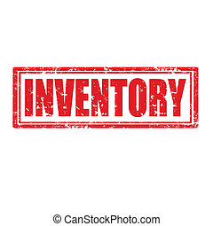 Inventory-stamp - Grunge rubber stamp with word...
