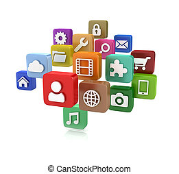 App icons - isolated on whit