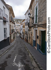 Typical street of Alcala la Real, Jaen, Spain