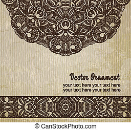Ethnic vintage ornament background , pattern in engineering...
