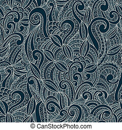 decorativo, floral, ornamental, seamless, Padrão