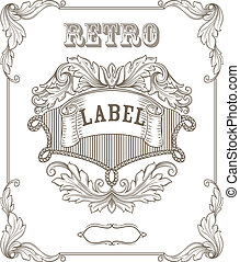 Vintage banner. Template certificate, diploma. Elements of...