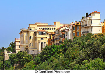 Monaco-Ville residential buildings. - View of typical...