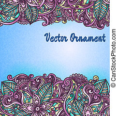 Vintage vector pattern. Hand drawn abstract background. Decorative retro banner.