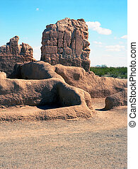 Casa Grande Ruins National Monument of the Hohokam Indians...