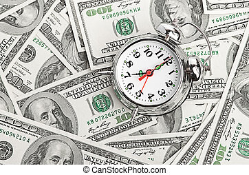 Time - money. Business concept