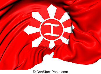 Magdiwang Faction of the Katipunan Flag Close Up