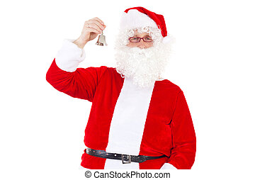 Smiling Santa Claus with small bell